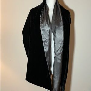 Valerie Stevens Velvet and Silk Elegant Scarf/Wrap